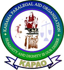 Volunteer with kahama Paralegal Aid Organization(KAPAO)