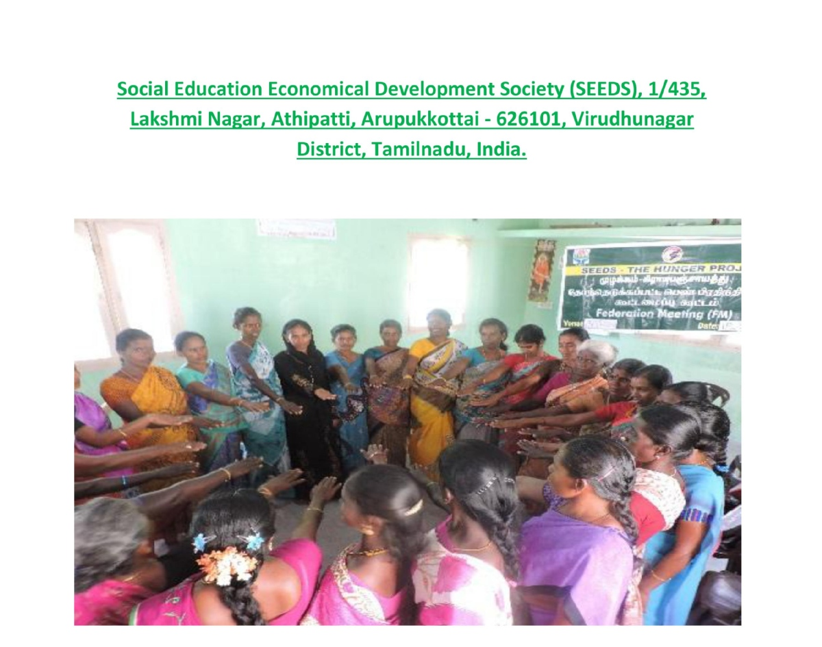 Volunteer with Social Education Economical Development Society (SEEDS)