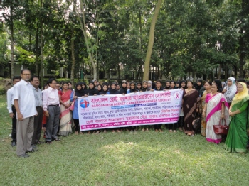 Volunteer with Bangladesh Breast Cancer Awareness Society